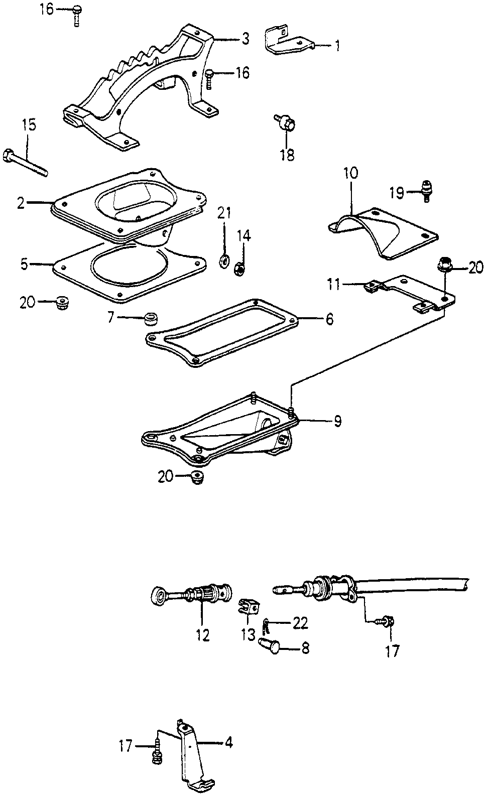 35701-SA5-010 - STAY, INHIBITER CONNECTOR