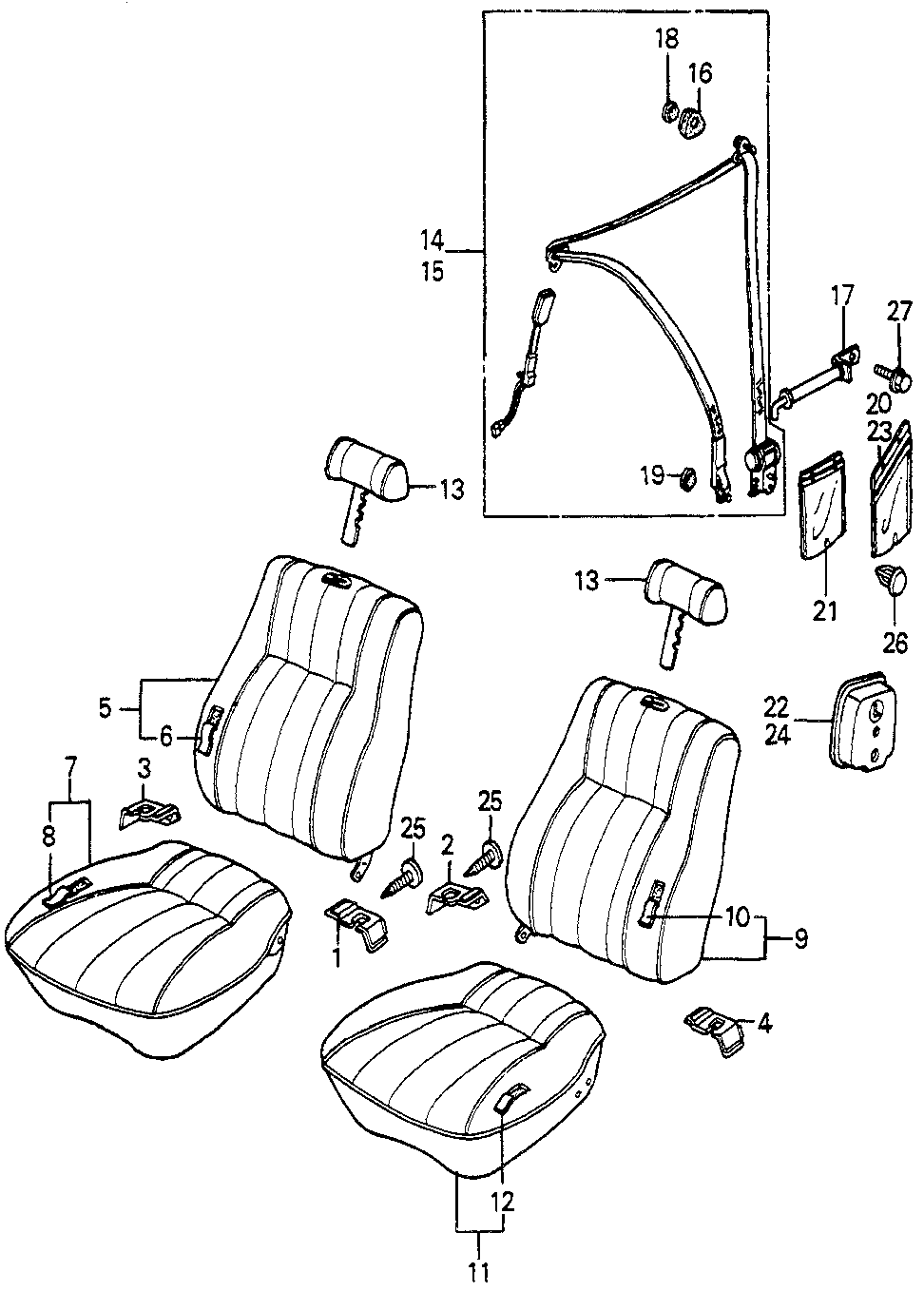 72854-SA5-010ZV - GARNISH, L. SEAT CENTER *R40L*(ARK RED)