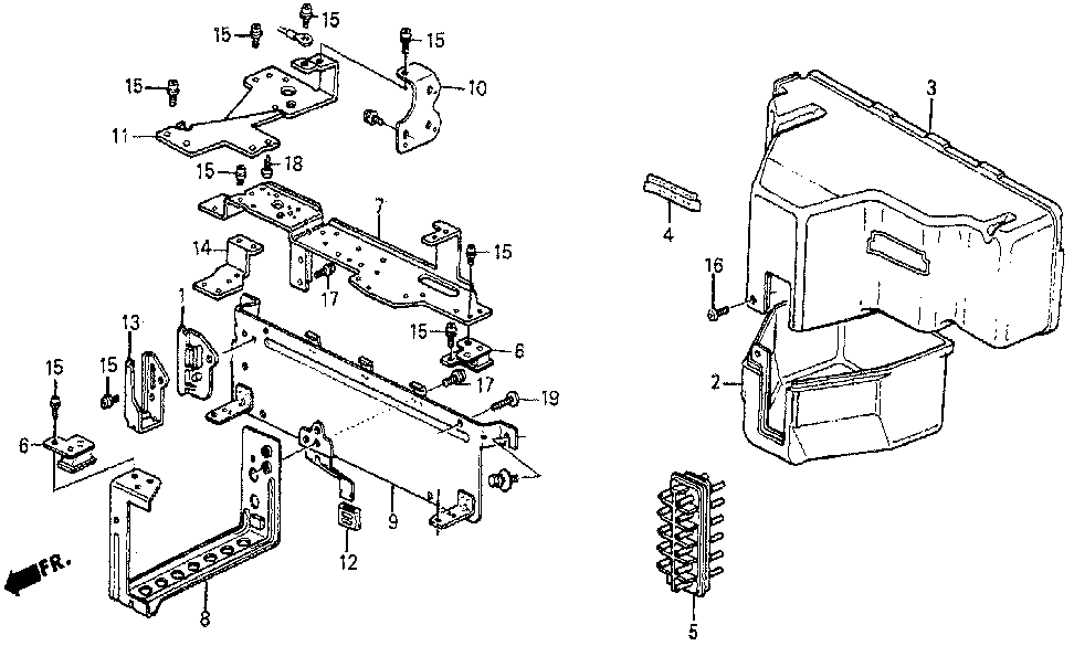 36070-PC7-661 - CLAMP, CONNECTOR