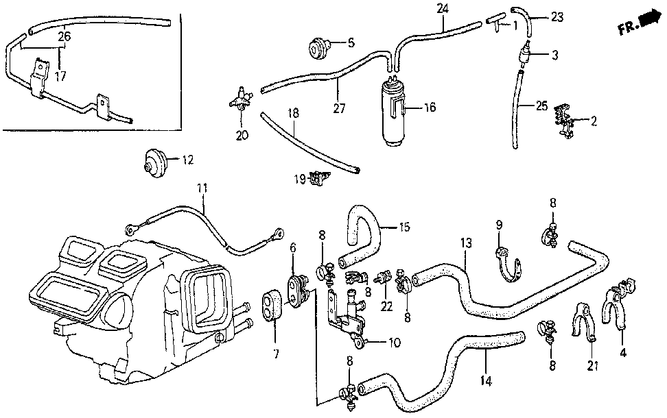 39312-SF0-000 - HOSE, WATER OUTLET