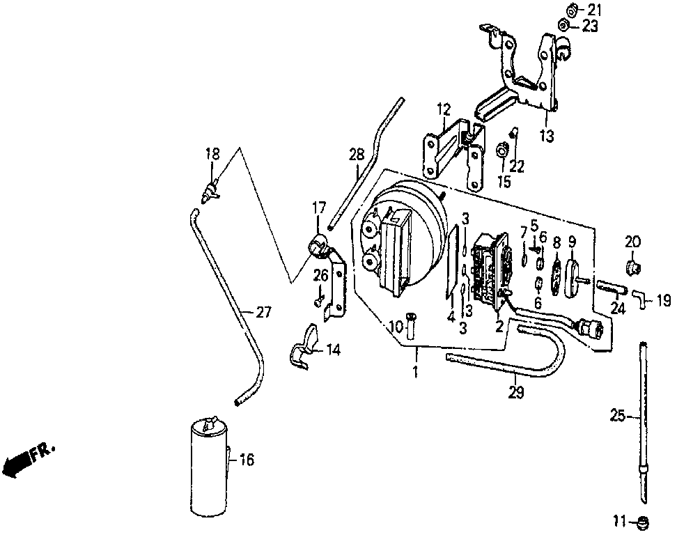 36626-PH2-000 - STAY, ACTUATOR CONNECTOR