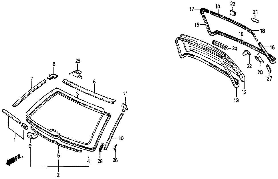 74806-SB0-940 - JOINT, MOLDING (LOWER)