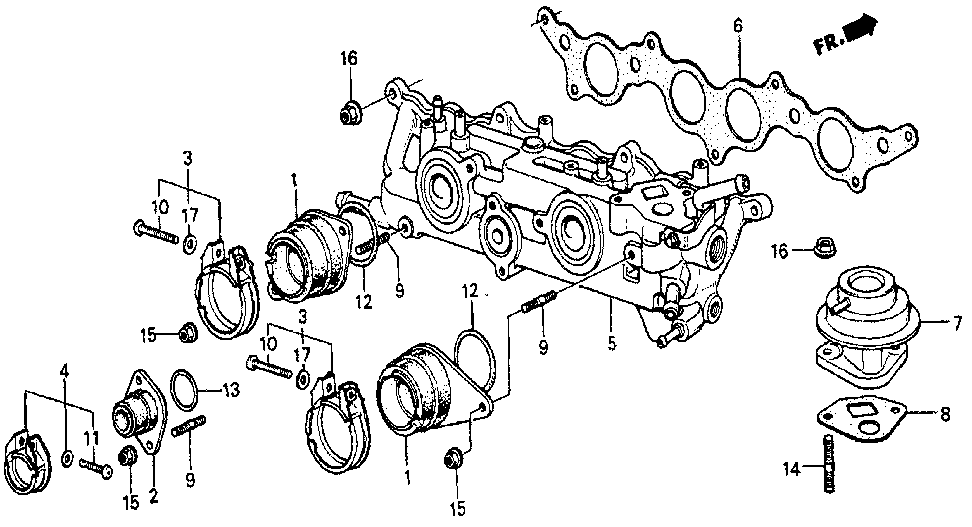 17100-PC6-660 - MANIFOLD, IN.