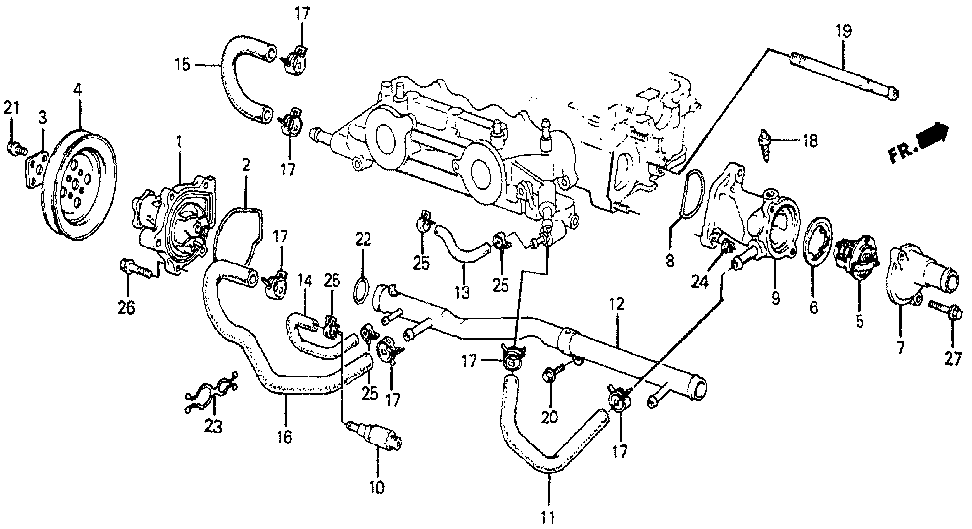 19508-PC6-000 - HOSE A, BYPASS OUTLET
