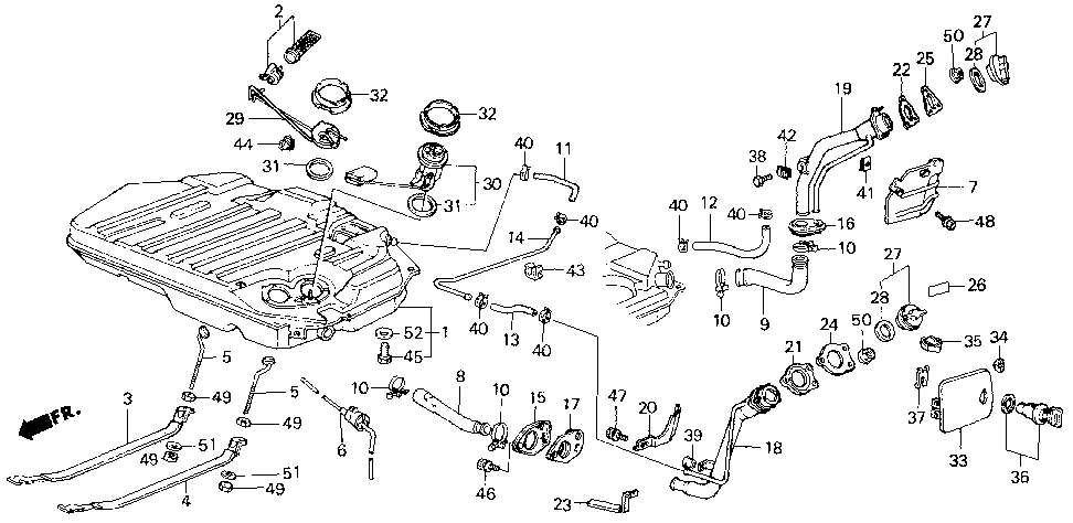 17664-SB4-670 - PLATE, FUEL FILLER SETTING