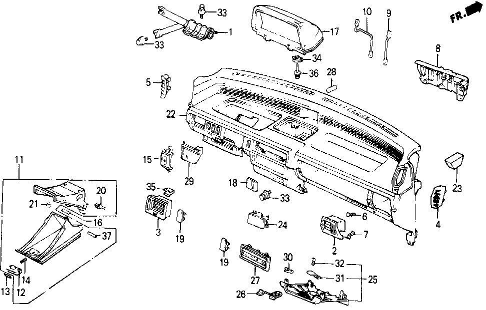 90101-SB6-000 - SPRING, COVER (LOWER)