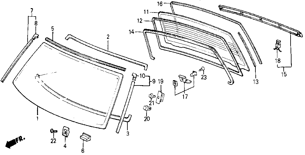 67205-SB6-000 - RUBBER, FR. WINDSHIELD DAM