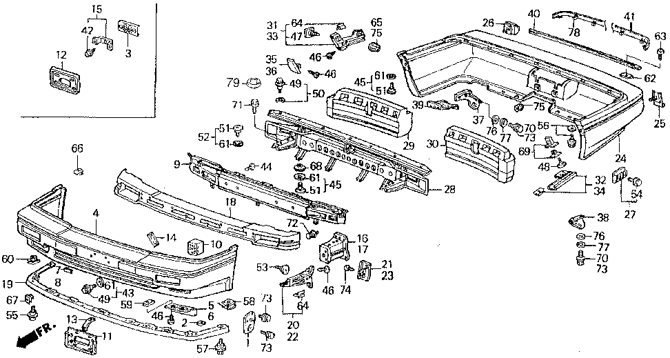 71593-SD4-000 - CLIP, R. RR. CORNER SLIDE (LOWER)