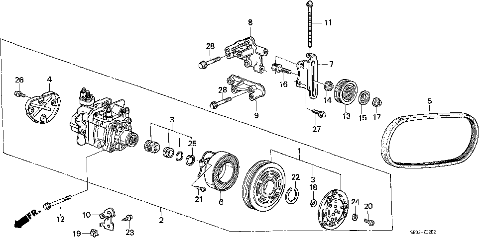 38946-PH5-951 - BOLT, IDLE PULLEY