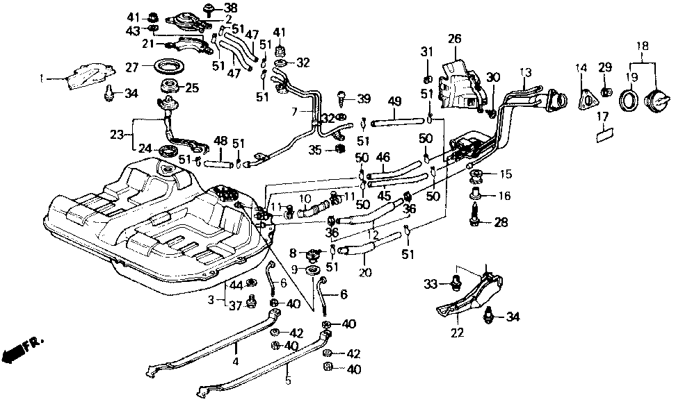 17660-SF1-A07 - PIPE, FUEL FILLER