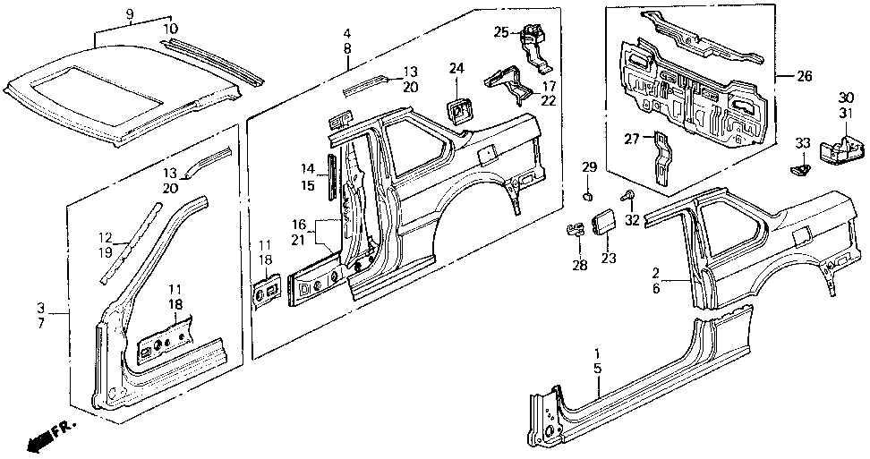 63715-SF1-A01ZZ - EXTENSION, L. RR. GUTTER