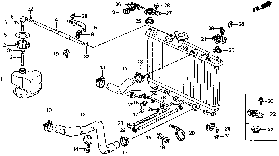 19109-PM3-000 - STAY, TUBE CLAMP