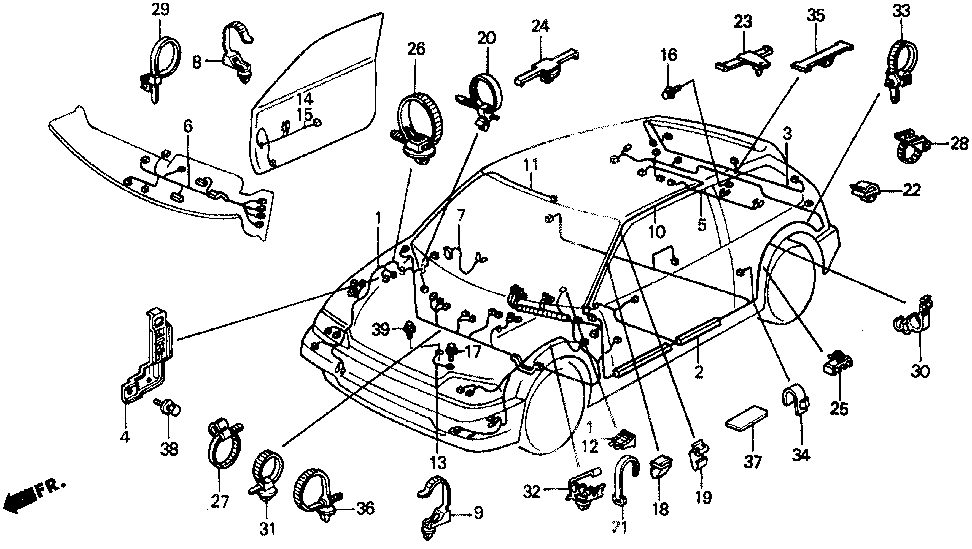 32117-SH3-A01 - WIRE HARNESS, INSTRUMENT