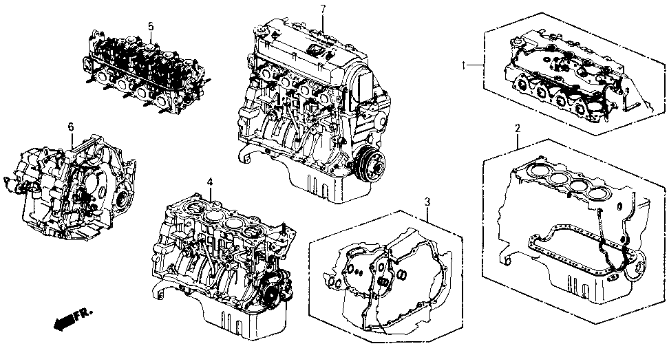 10002-PM6-A80 - GENERAL ASSY., CYLINDER BLOCK