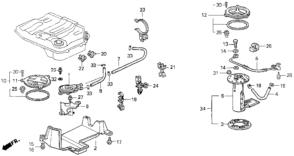 17372-SH5-020 - COVER, VALVE (TWO-WAY)