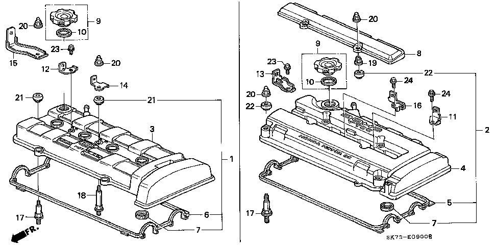 90442-P30-000 - WASHER, HEAD COVER