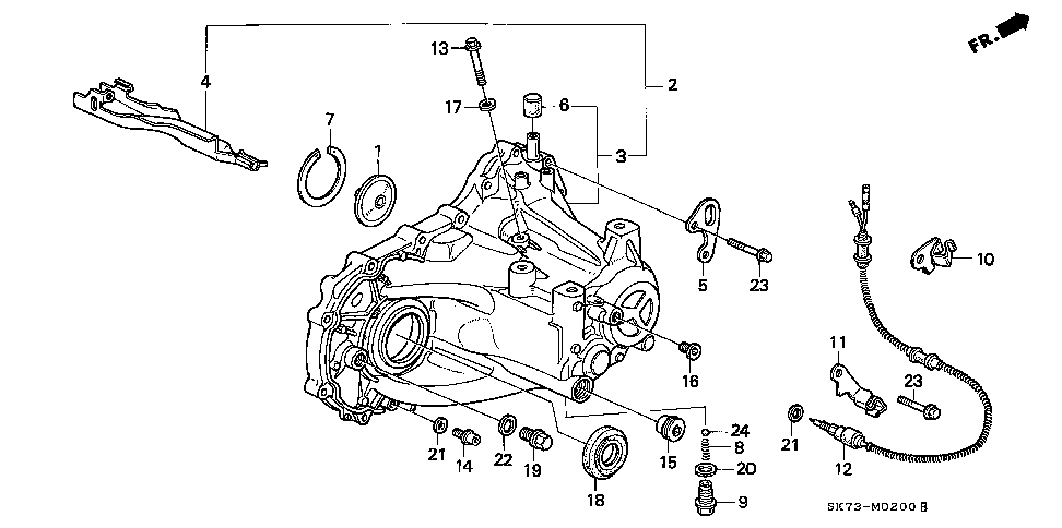 21104-PS1-020 - PLATE M, OIL GUIDE