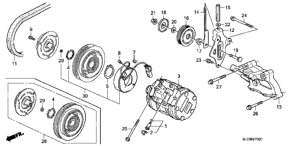 38944-PM3-000 - COLLAR, IDLE PULLEY (10X17X15.5)