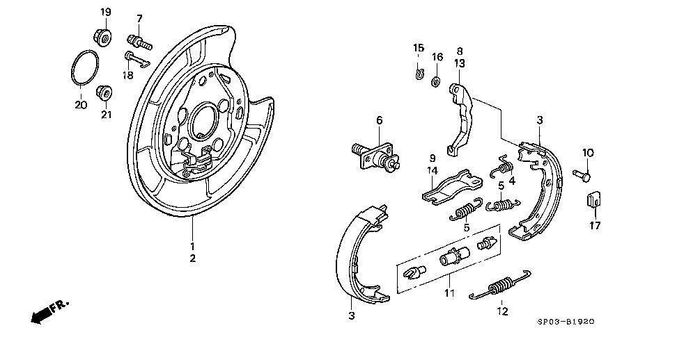 43365-SP0-003 - PIN, PARKING LEVER