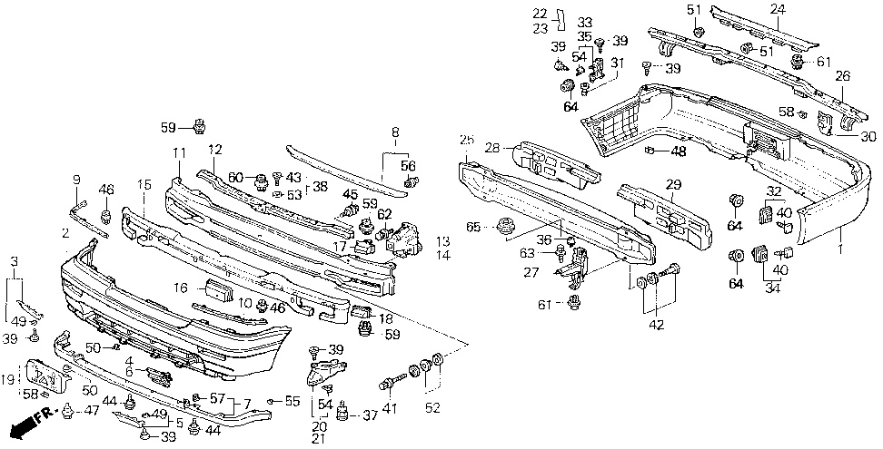 71522-SP0-000 - COVER, RR. BUMPER FACE