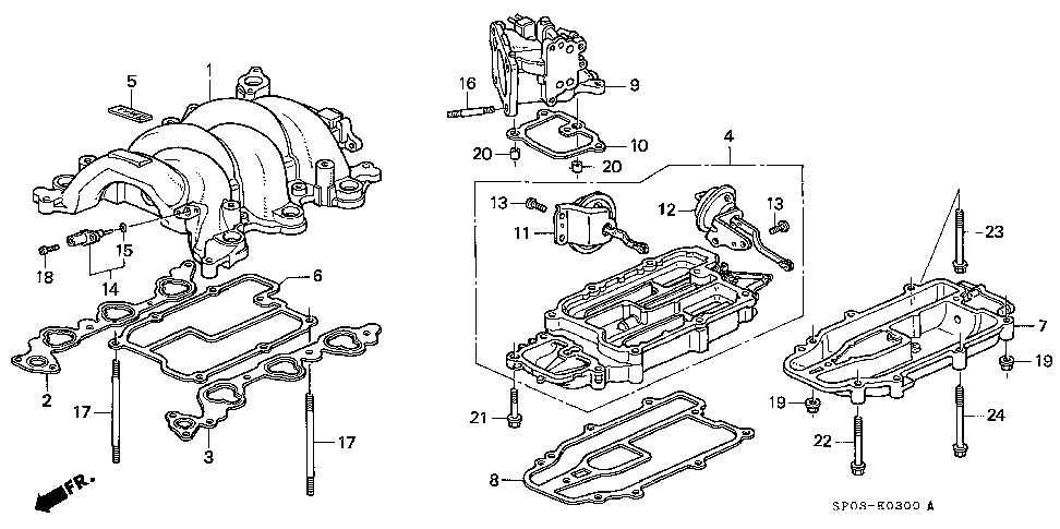 17100-PY3-000 - MANIFOLD A, IN.
