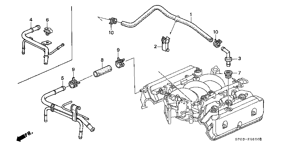 17137-PY3-000 - PIPE, BREATHER