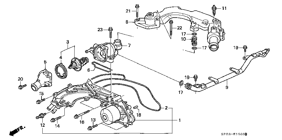 19311-PY3-000 - COVER, THERMOSTAT