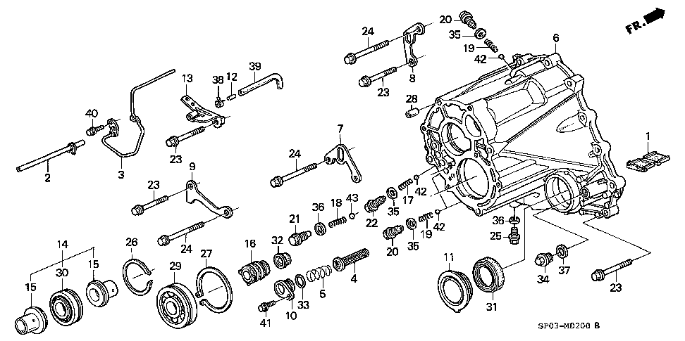 21399-PY5-010 - CLAMP, BREATHER