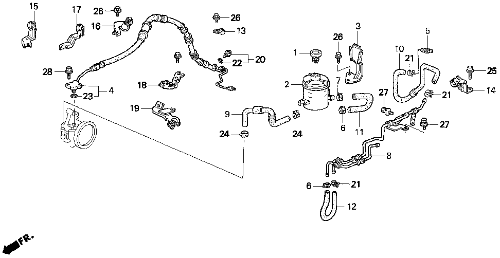 53776-ST7-960 - STAY B, FEED HOSE