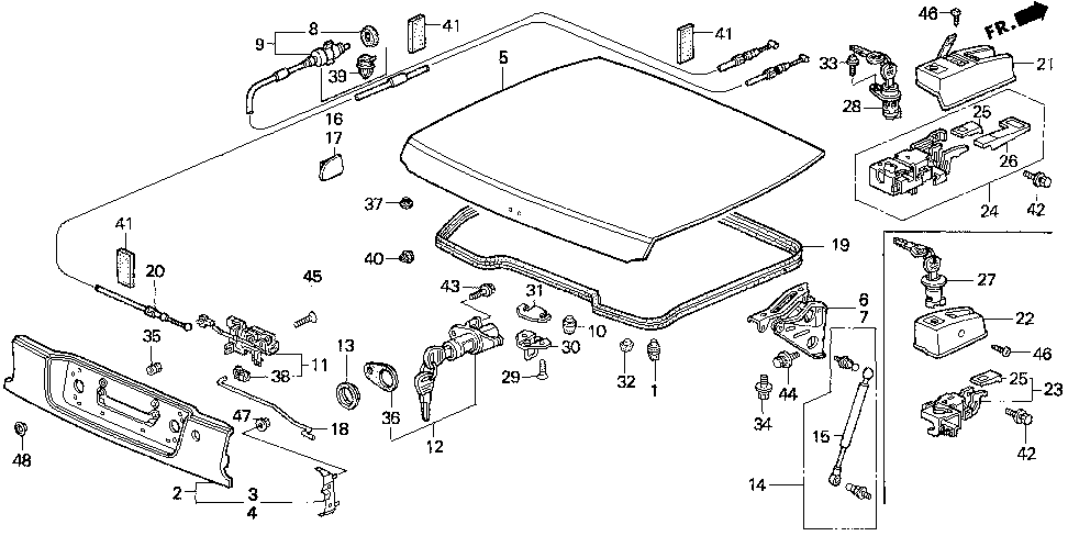 74749-SR2-950 - CUSHION, ROOF STOP