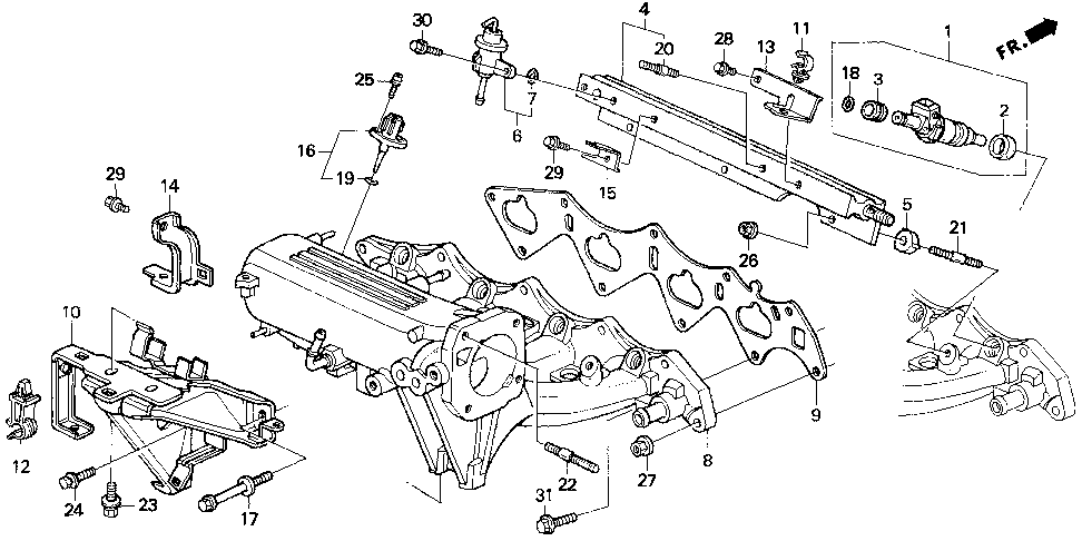 32754-P30-000 - STAY D, ENGINE WIRE HARNESS