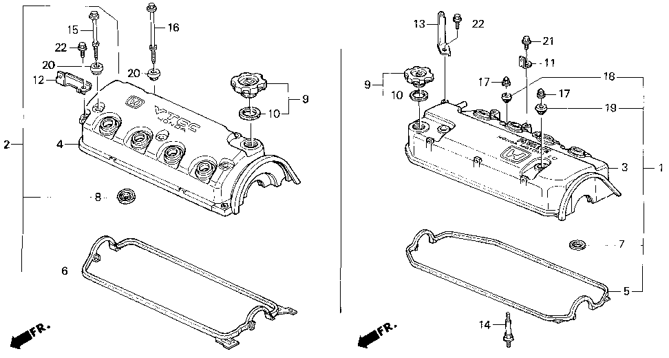 12341-P08-000 - GASKET, CYLINDER HEAD COVER