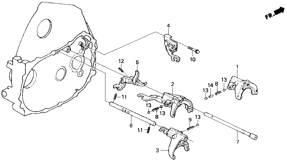 24210-P20-A00 - FORK, GEARSHIFT (3-4)