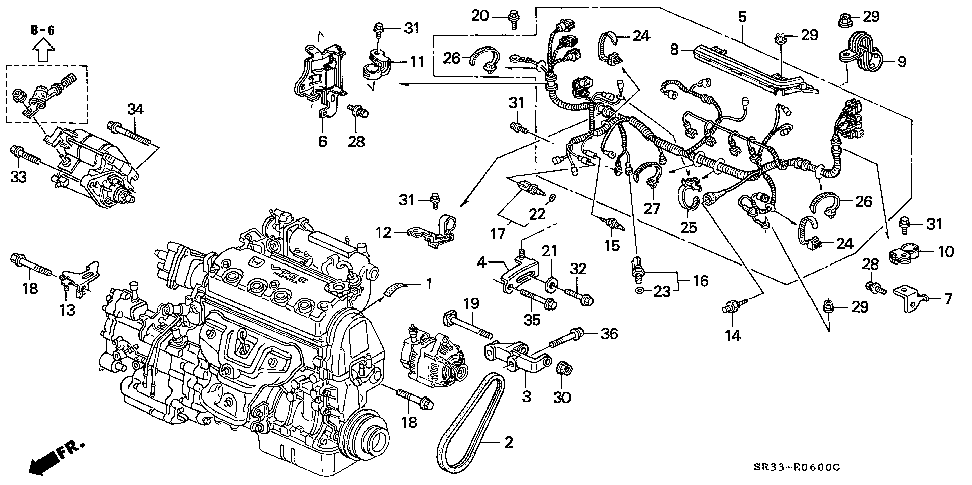32110-P07-L00 - WIRE HARNESS, ENGINE
