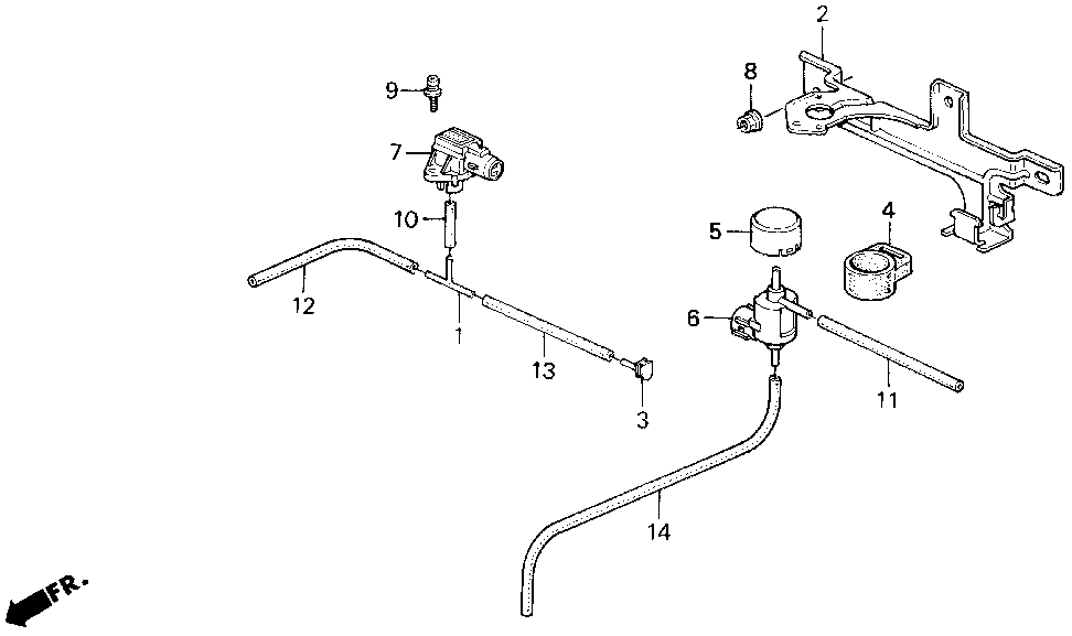 36053-PT1-E01 - RUBBER, MOUNTING
