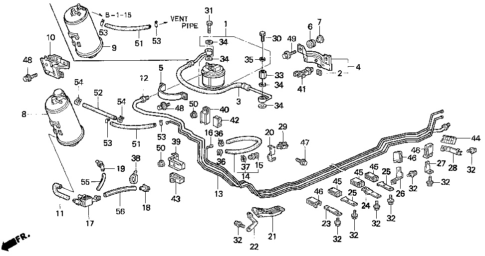 17700-SS0-A30 - PIPE, FUEL FEED