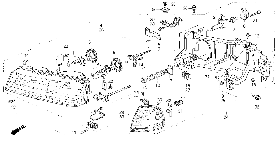 33103-SS0-A01 - HEADLIGHT UNIT, R.
