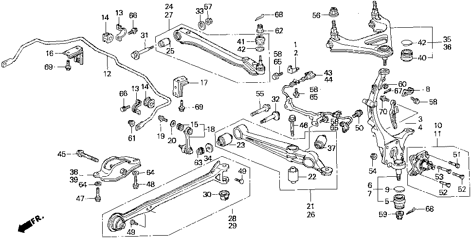 52360-SS0-020 - ARM, L. RR. (LOWER)