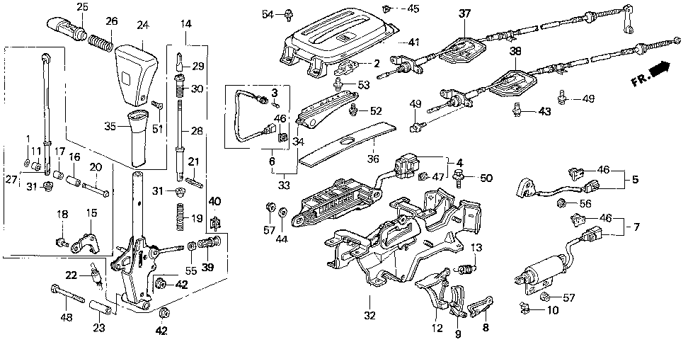 35700-SS0-A01 - SWITCH ASSY., AUTOMATIC TRANSAXLE GEAR POSITION