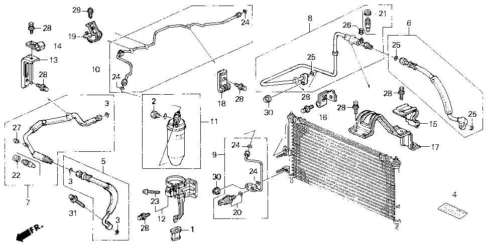 80331-SS0-A12 - PIPE, CONDENSER (PARKER)