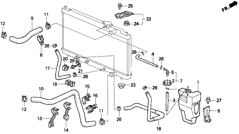 19519-P54-901 - CLAMP, WATER HOSE