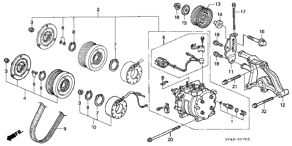 38942-P0G-A01 - PULLEY, IDLE