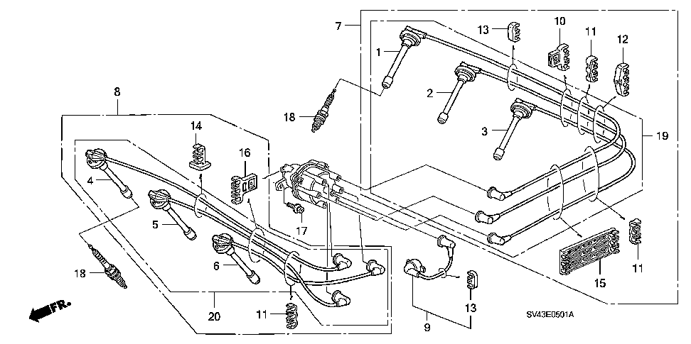32723-P0G-A00 - WIRE, IGNITION CENTER