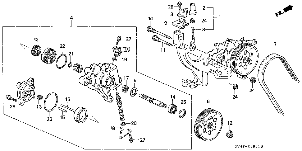 32751-P0G-A00 - STAY C, ENGINE HARNESS