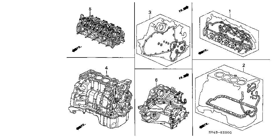 20021-P0X-910 - TRANSMISSION ASSY. (AT)