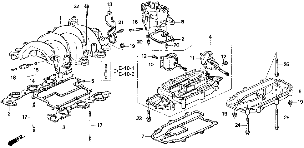 17100-P5G-000 - MANIFOLD, IN.