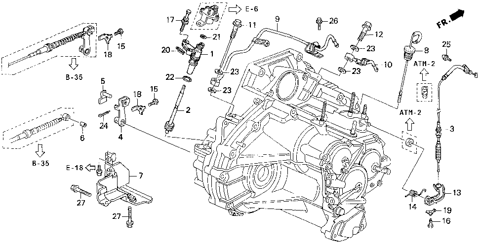 24360-P1E-003 - CABLE, THROTTLE