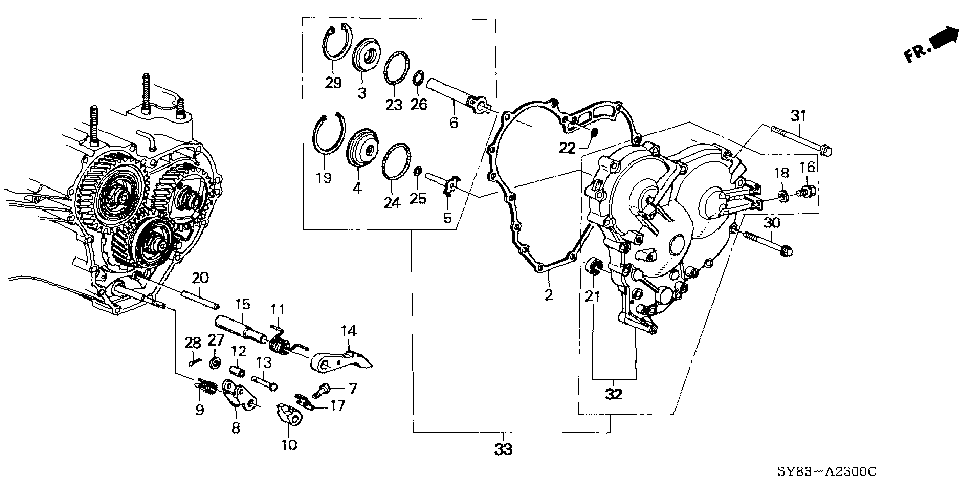 21812-P6H-000 - GASKET, R. SIDE COVER
