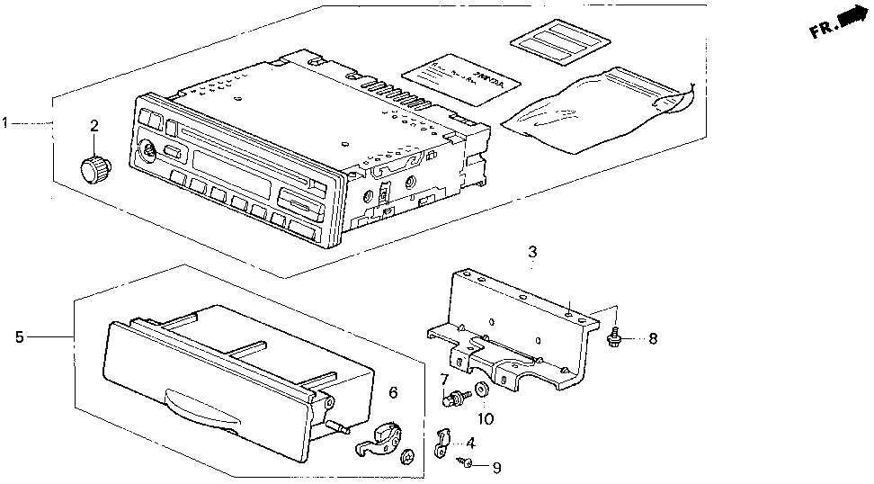 39100-SY8-A00 - TUNER SET
