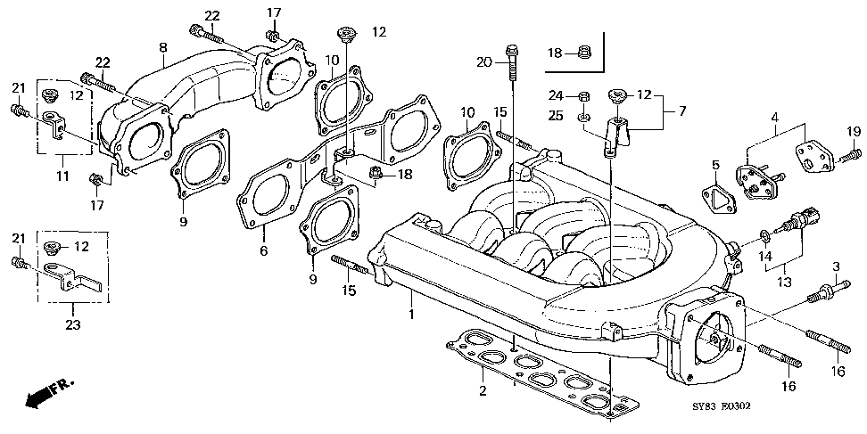 17140-P8A-A00 - CHAMBER B, IN. MANIFOLD